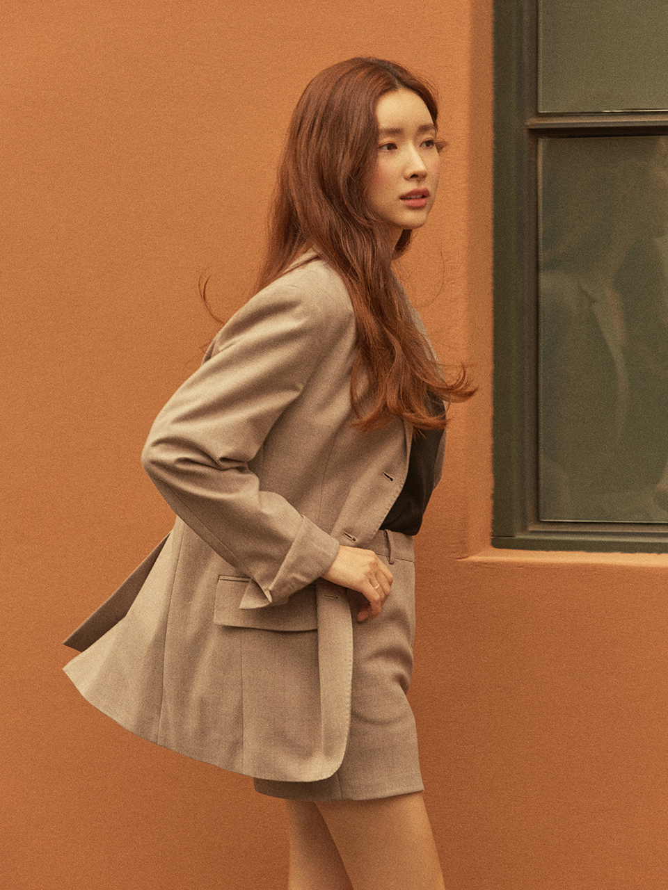 [GROVE x chajungwon] Bella Jacket(Beige Check)