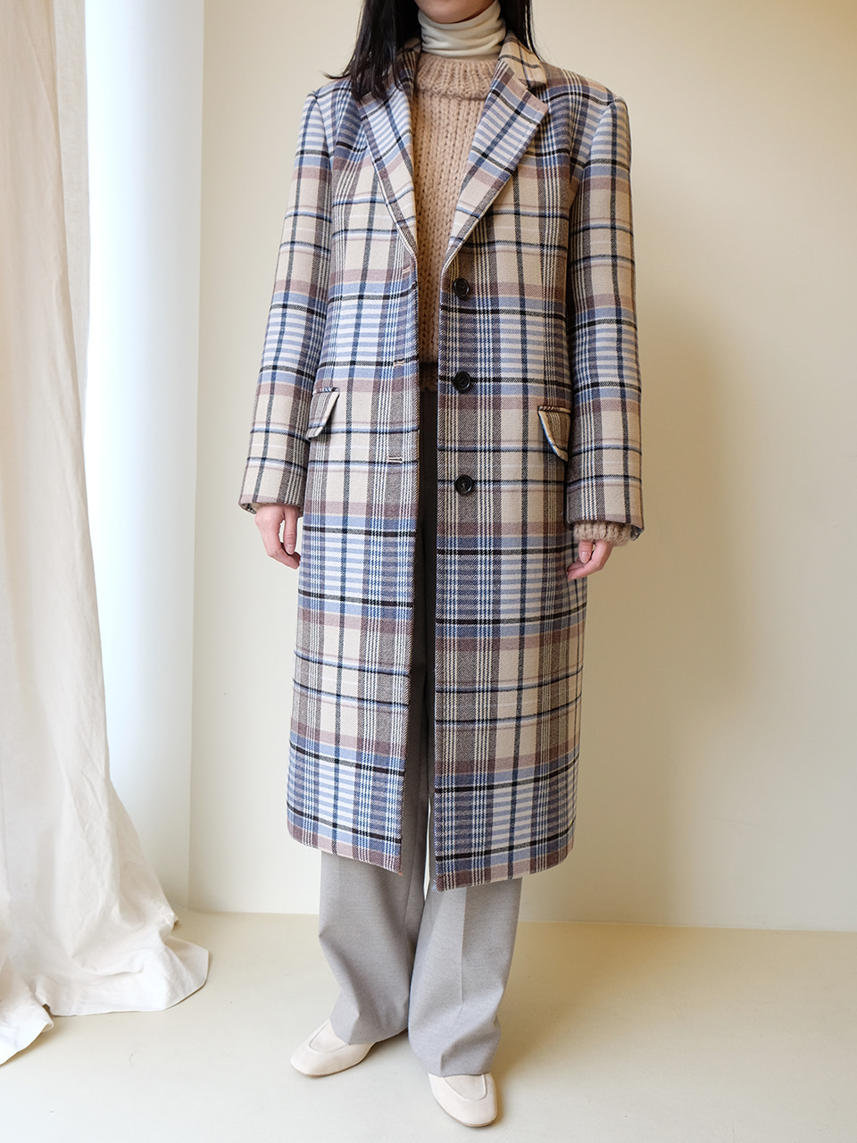 Merry Coat(Multi Check)