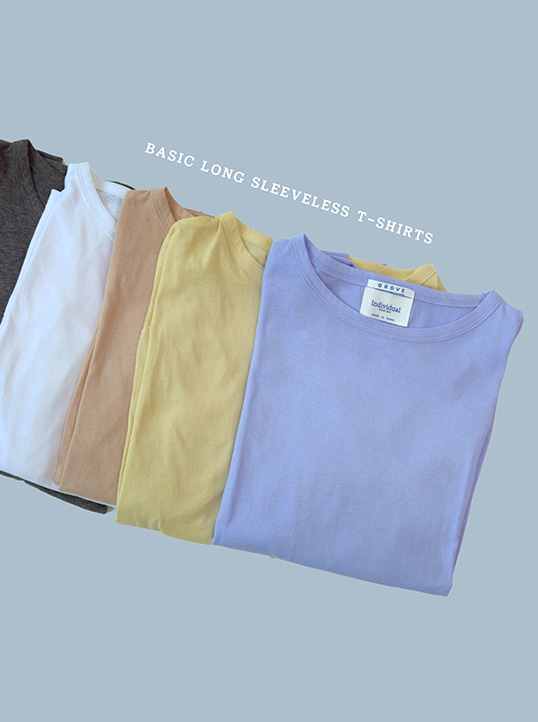 Basic Long Sleeveless T-shirts(7color)