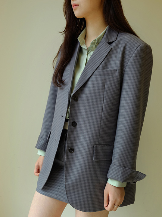 Bella Jacket (Grey Check)