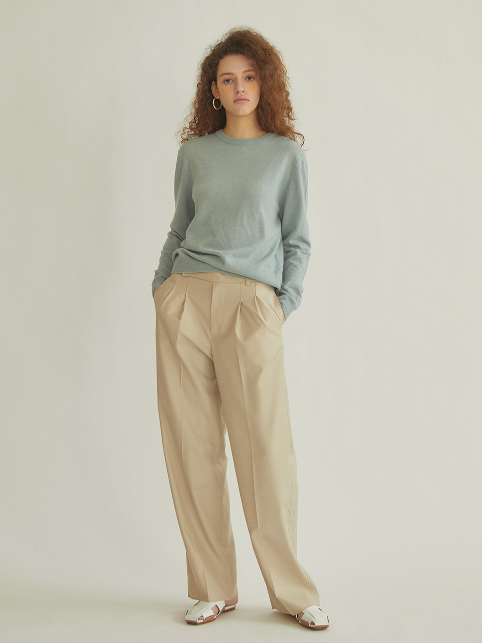 Day Pants(Beige/Black)