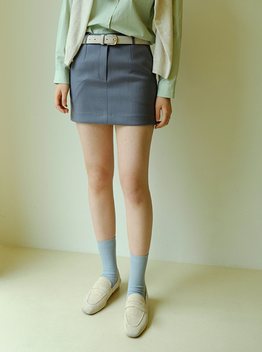 Bella Skirts(Grey Check)