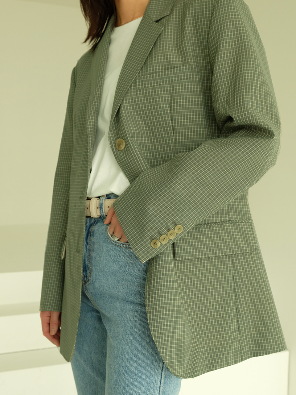 Bella Jacket(Green check)