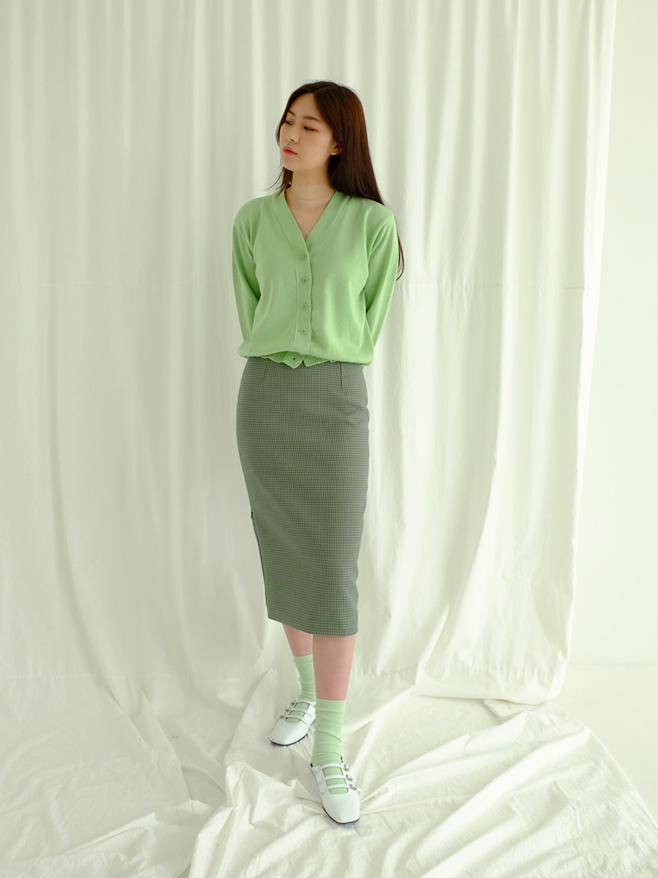 Eddie skirts (Green check)