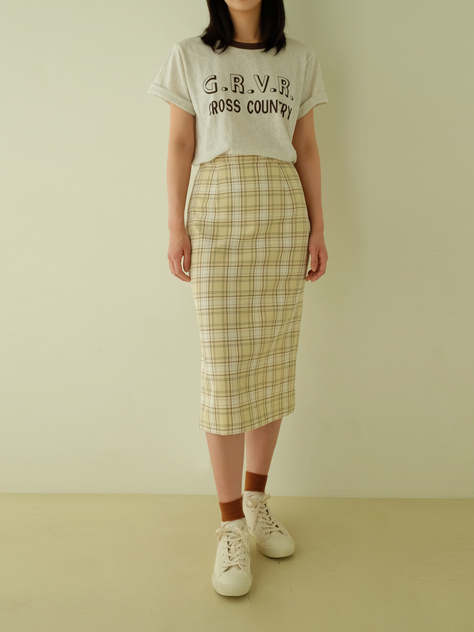 Eddie skirts( ivory check)