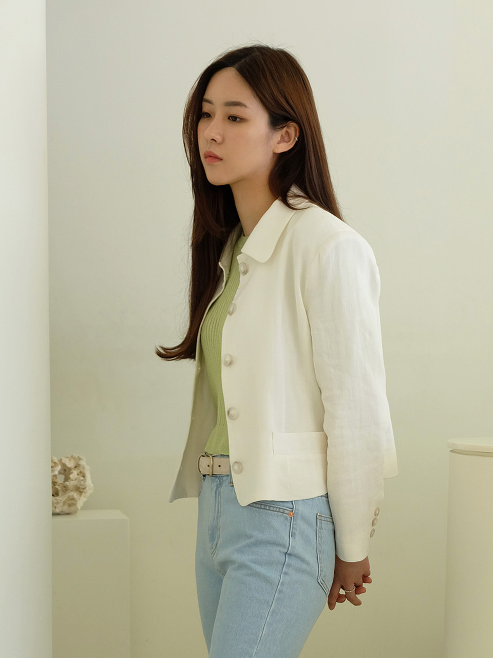 Linen Short Jacket (2color)