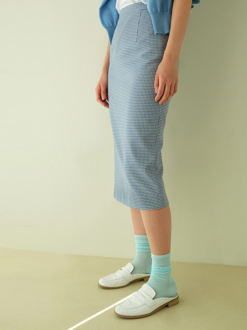 Eddie skirt (Blue check)