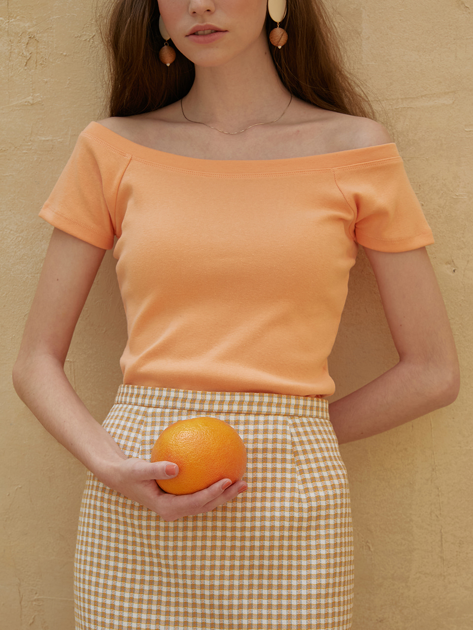 Eddie skirt (orange check)