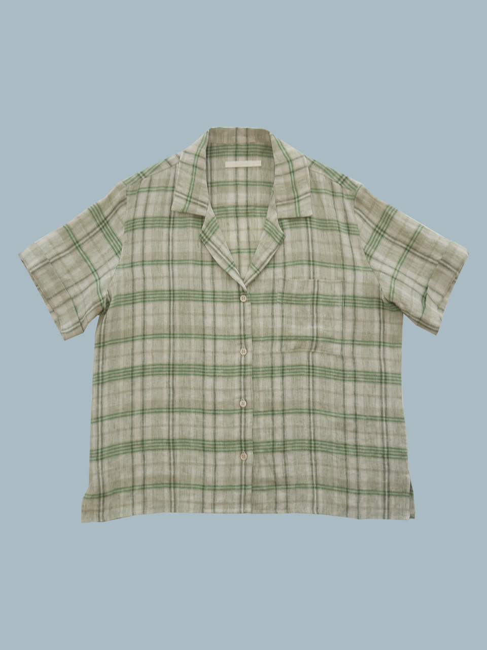 NEW LINEN TAILOR SHIRTS(MULTI GREEN)