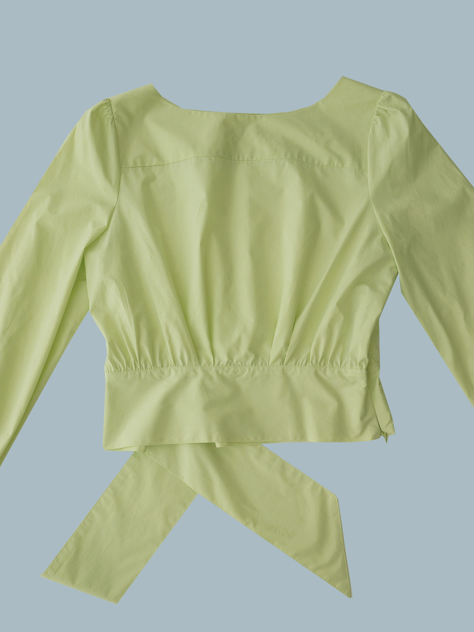 Ray blouse (Beige peach/Lime )