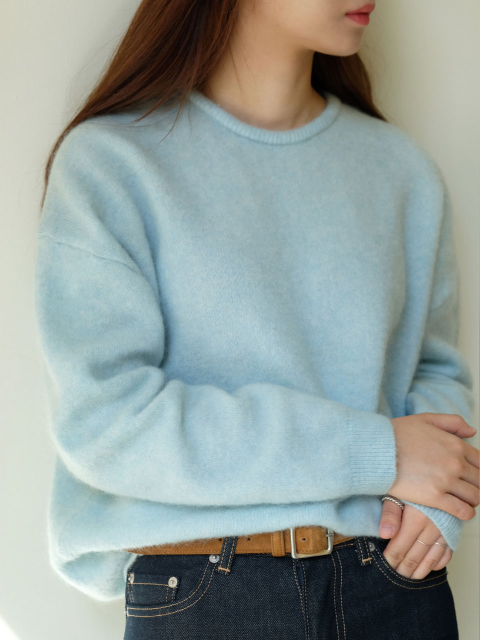 FRENCH KID MOHAIR KNIT [2COLOR]