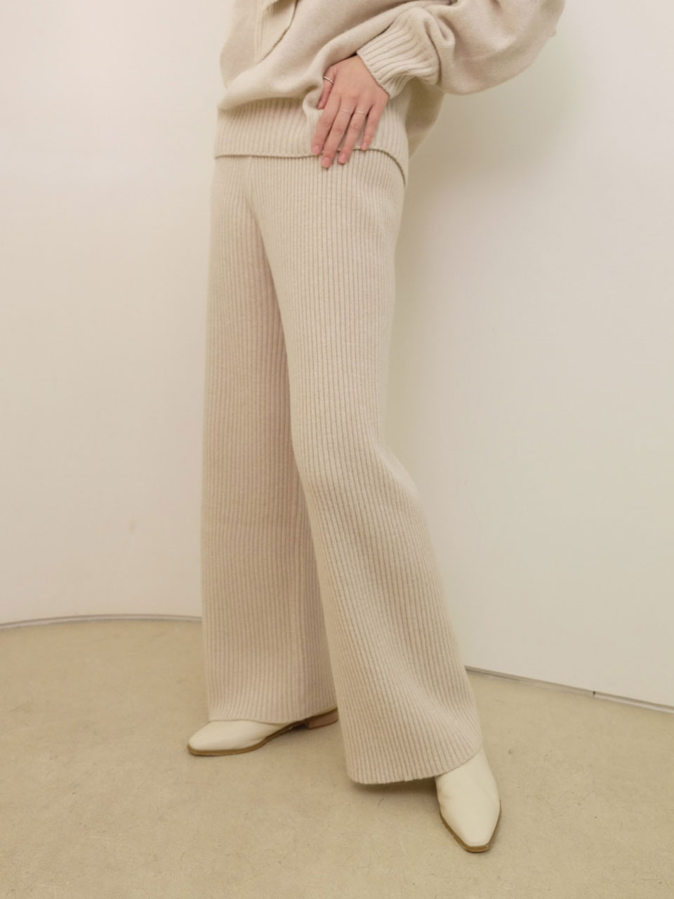 BASIC KNIT PANTS[2COLOR]