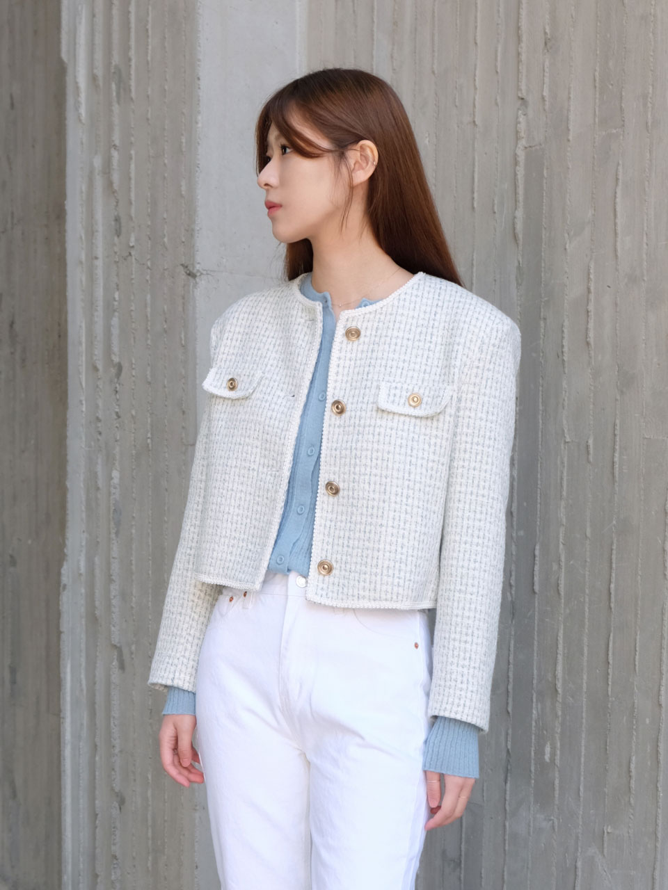 SHELL TWEED JACKET