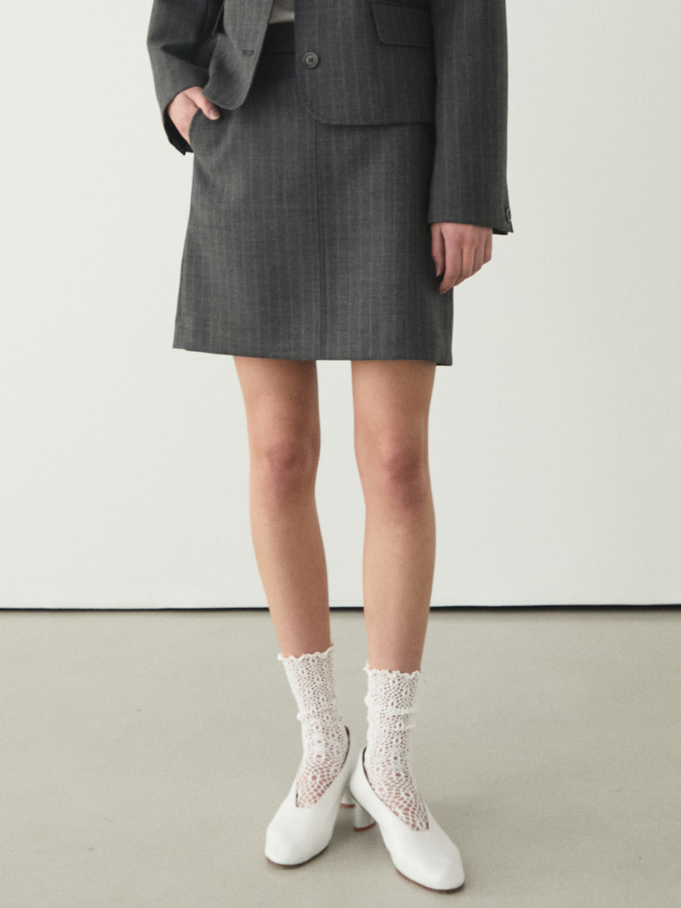20ss BILLY SKIRTS [GRAY STRIPE]