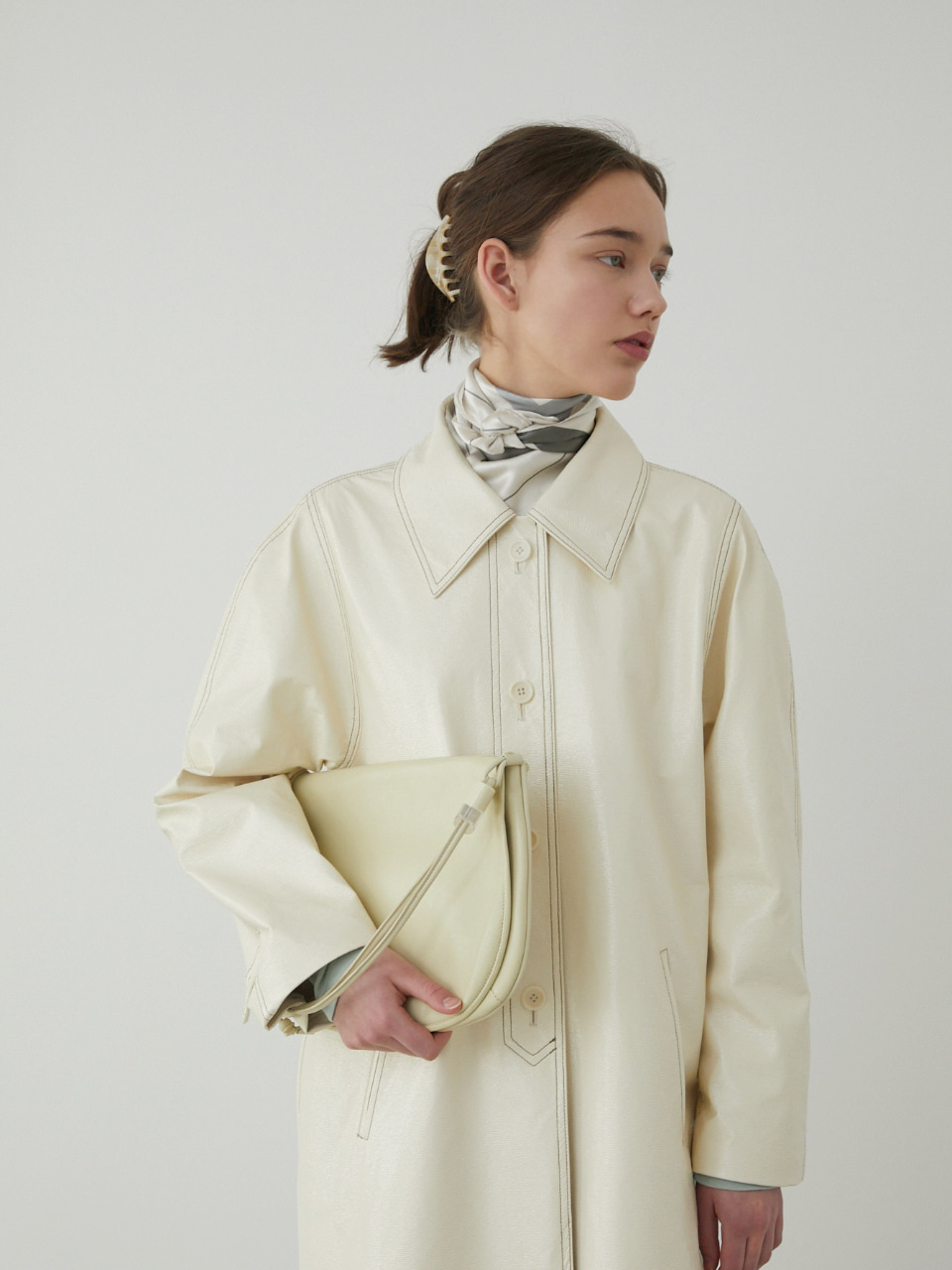 20ss LAMANT SCARF [IVORY]