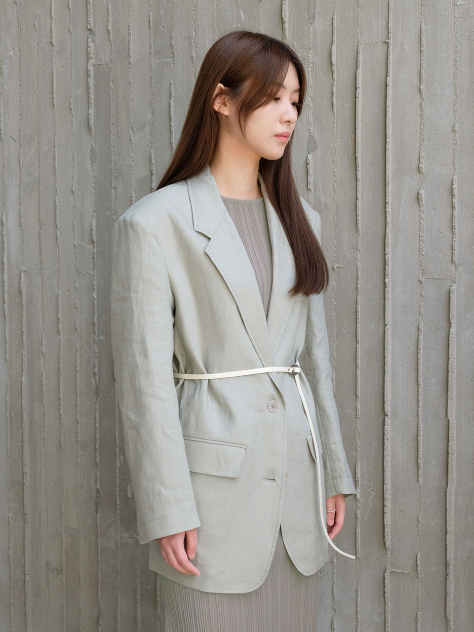 OVER LINEN JACKET [2COLOR]
