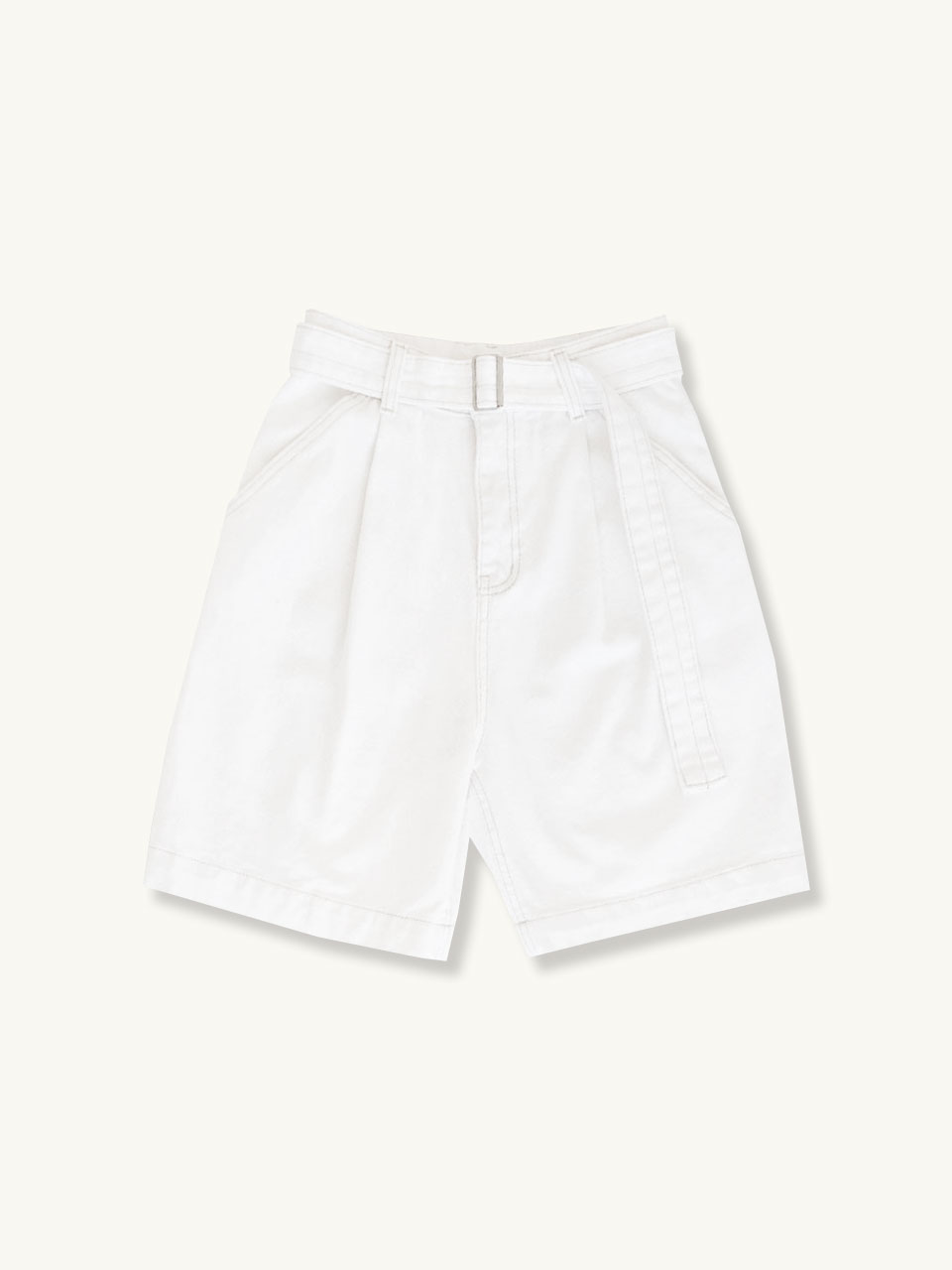 BELT SHORT PANTS[WHITE]