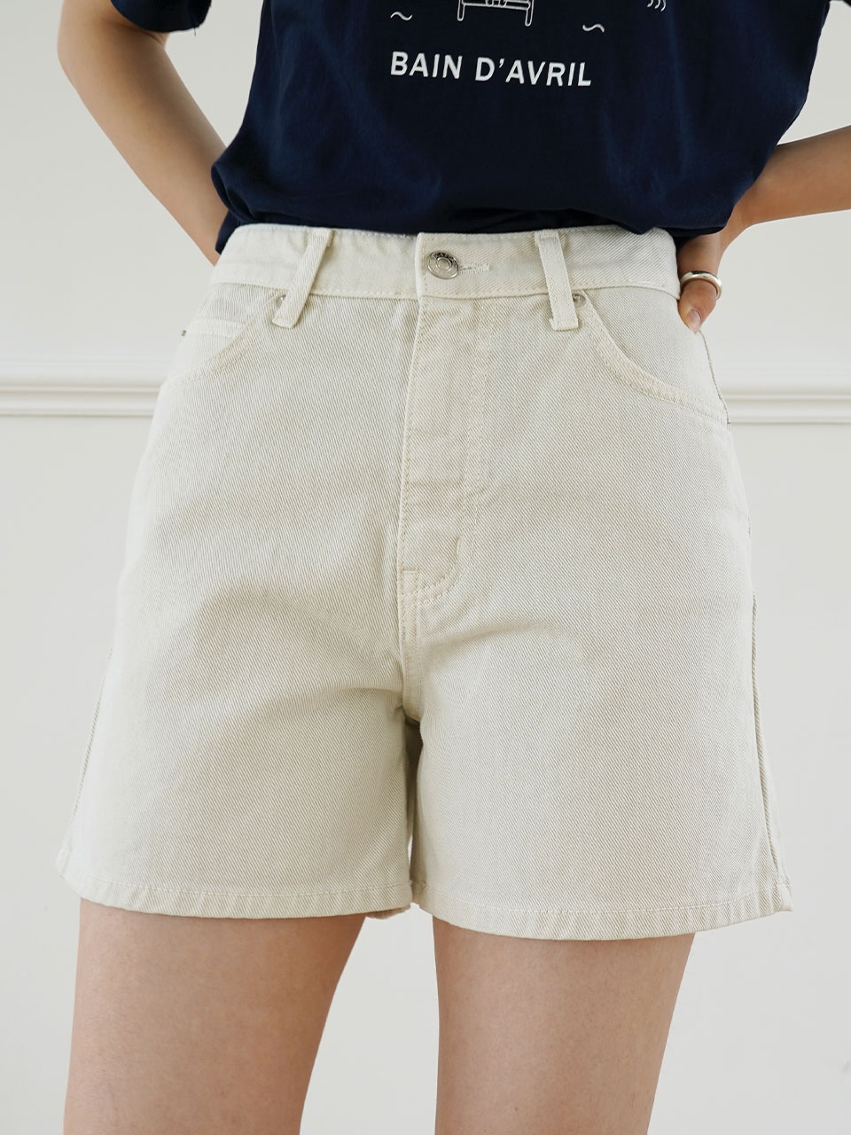 OLIVE SHORT DENIM [2COLOR]