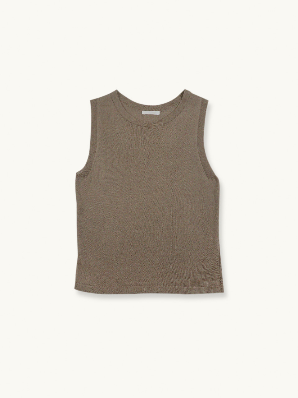 LINEN ROUND KNIT TOP[3COLOR]