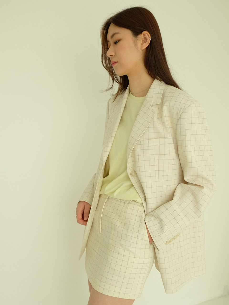 Bella jacket ( ivory check)