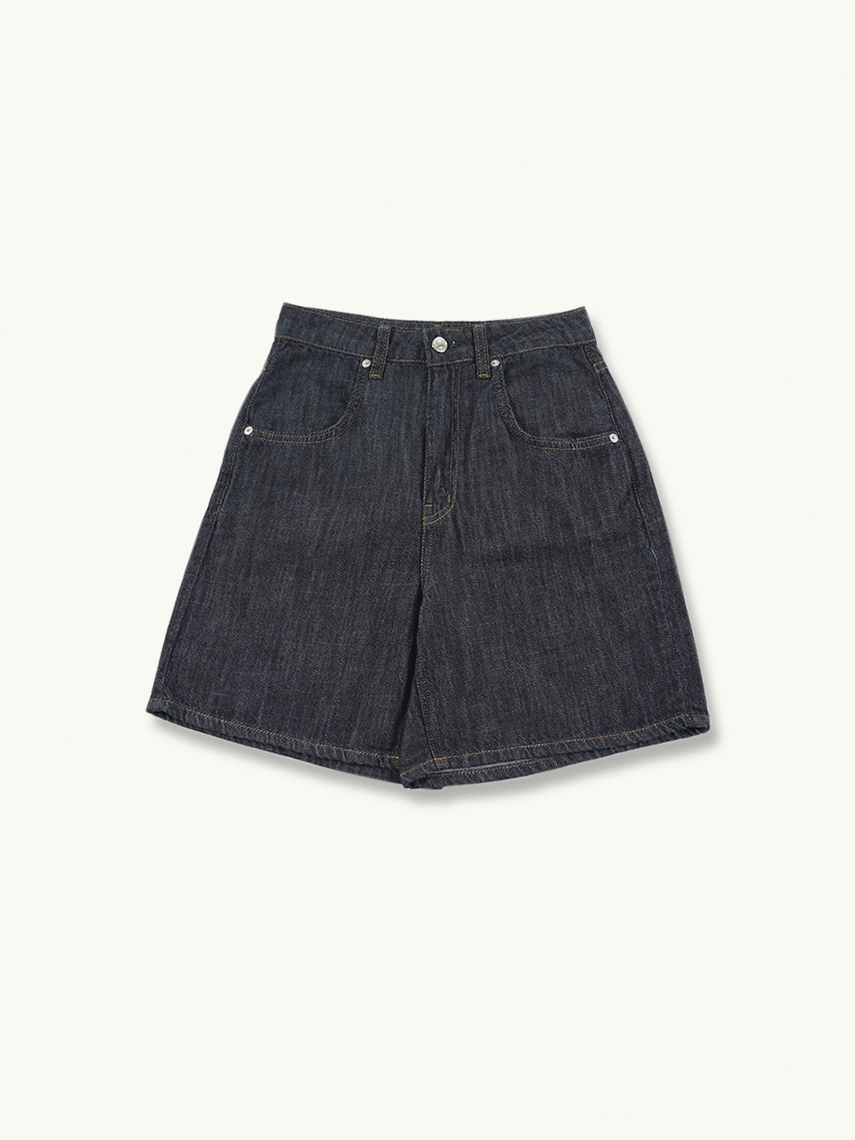 LINEN SHORT DENIM[DARK DENIM]