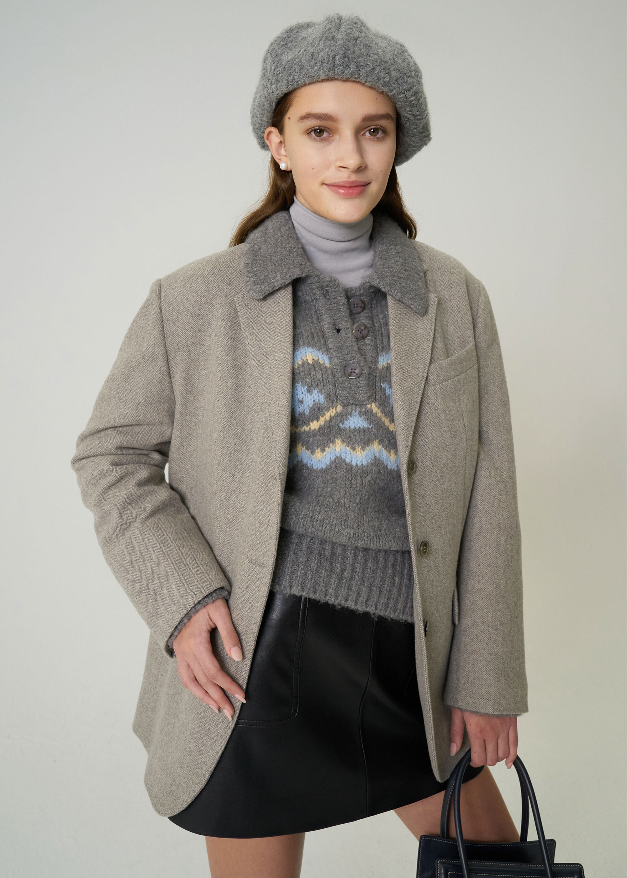 20W/T BELLA JACKET [GREY]  -15% OFF