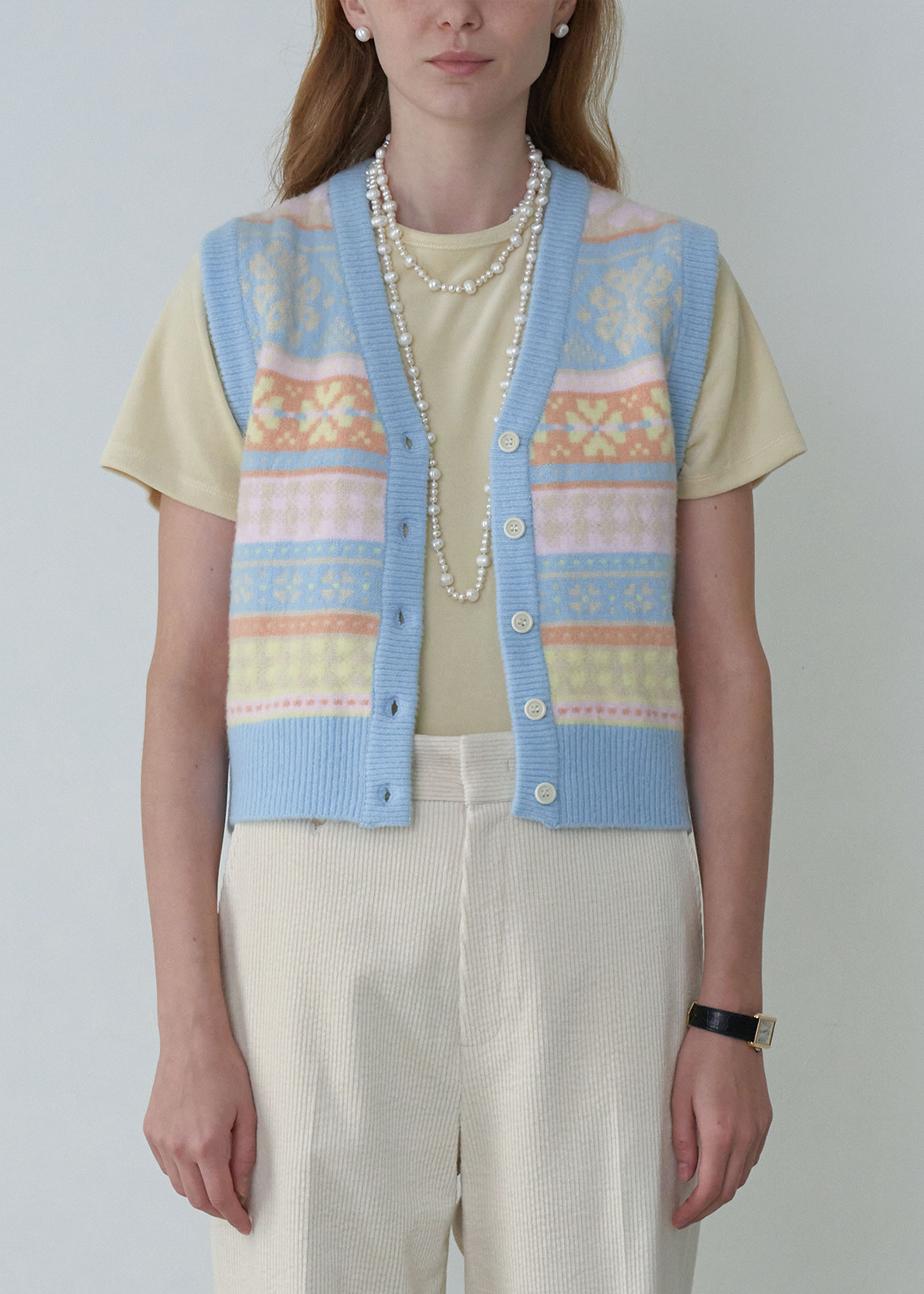 20FW FAIR ISLE VEST [2COLOR]  -30% OFF