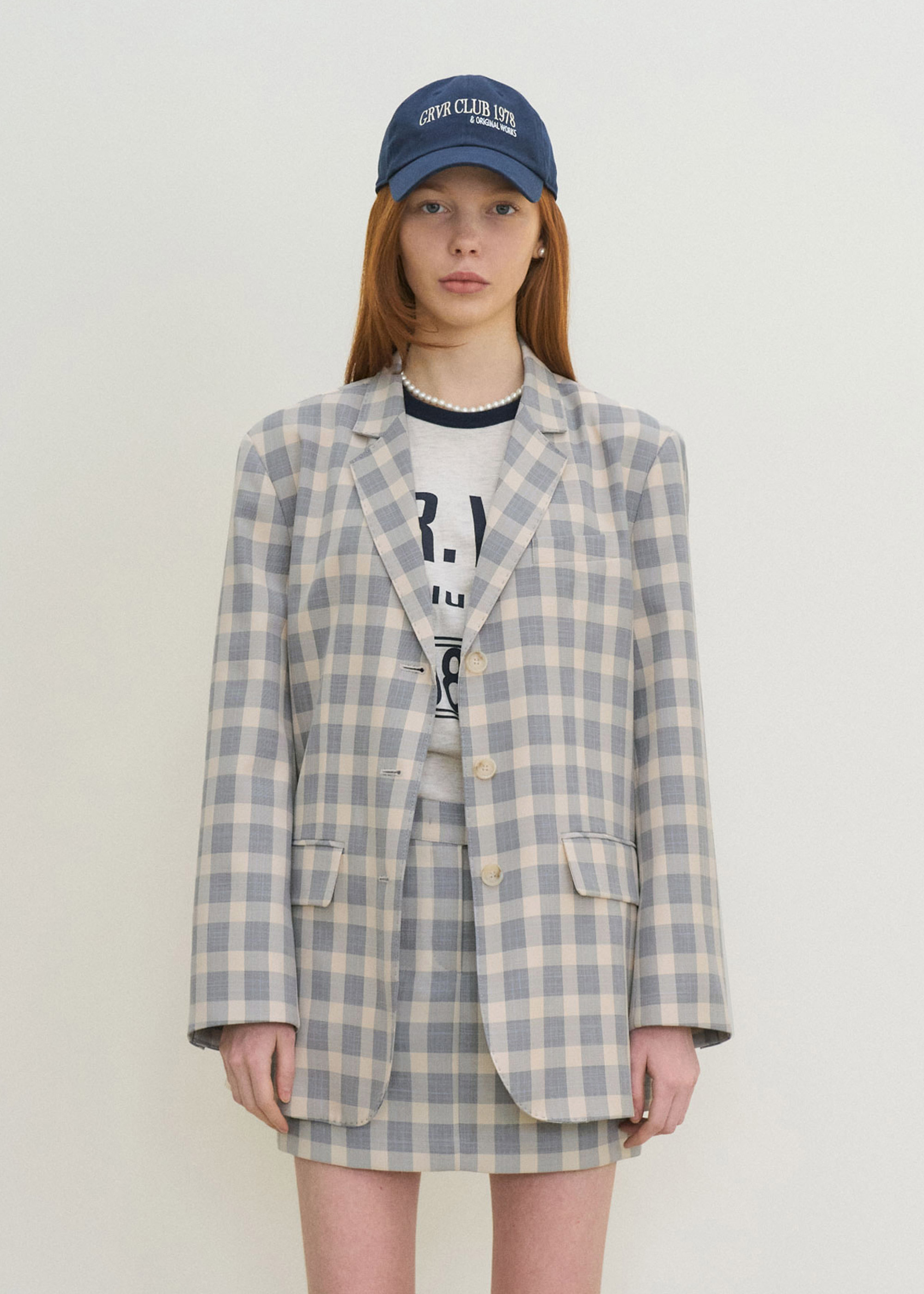 21S/S BELLA JACKET [BLUE CHECK]