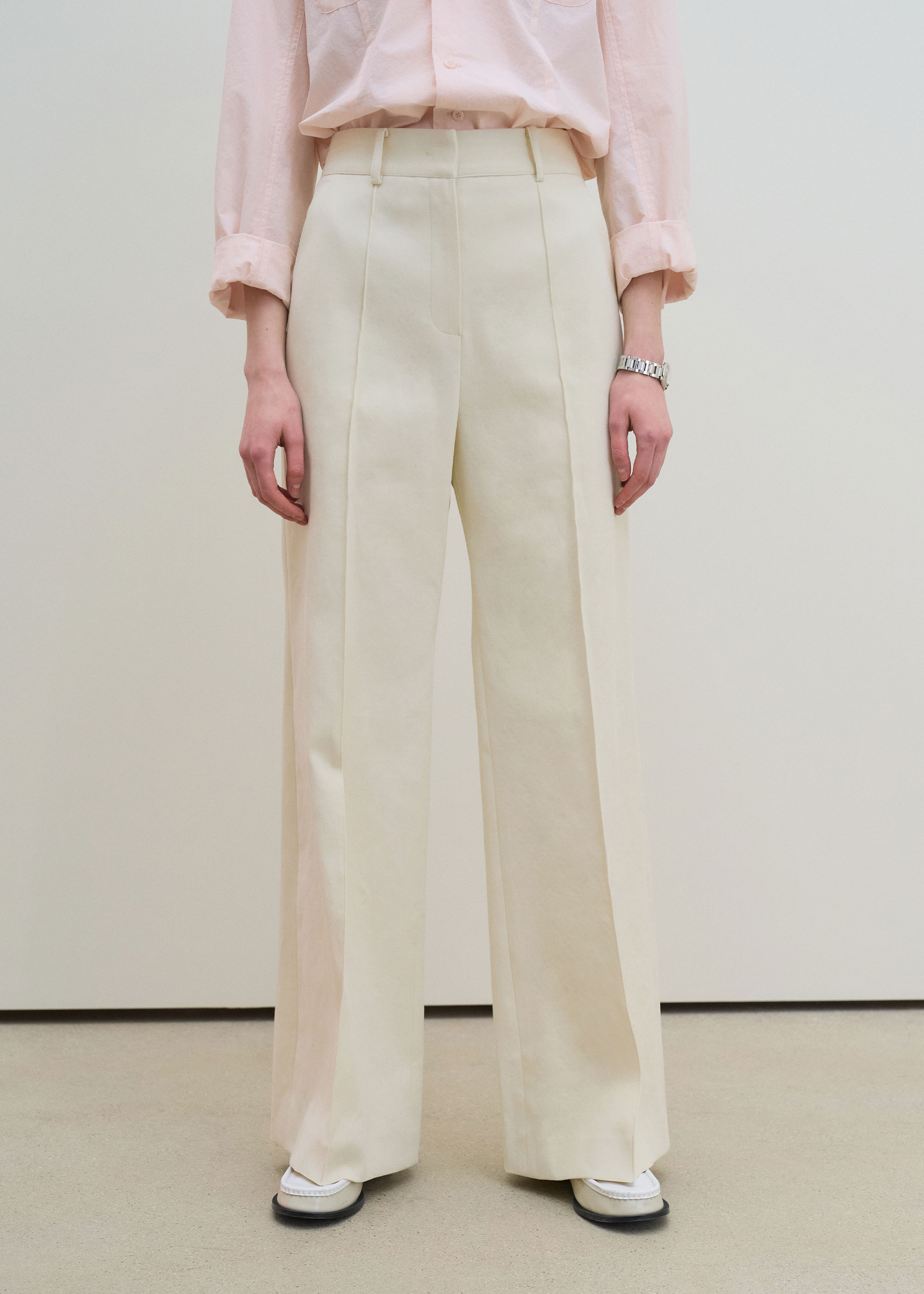 21S/S FLARED LEG PANTS [CREAM]