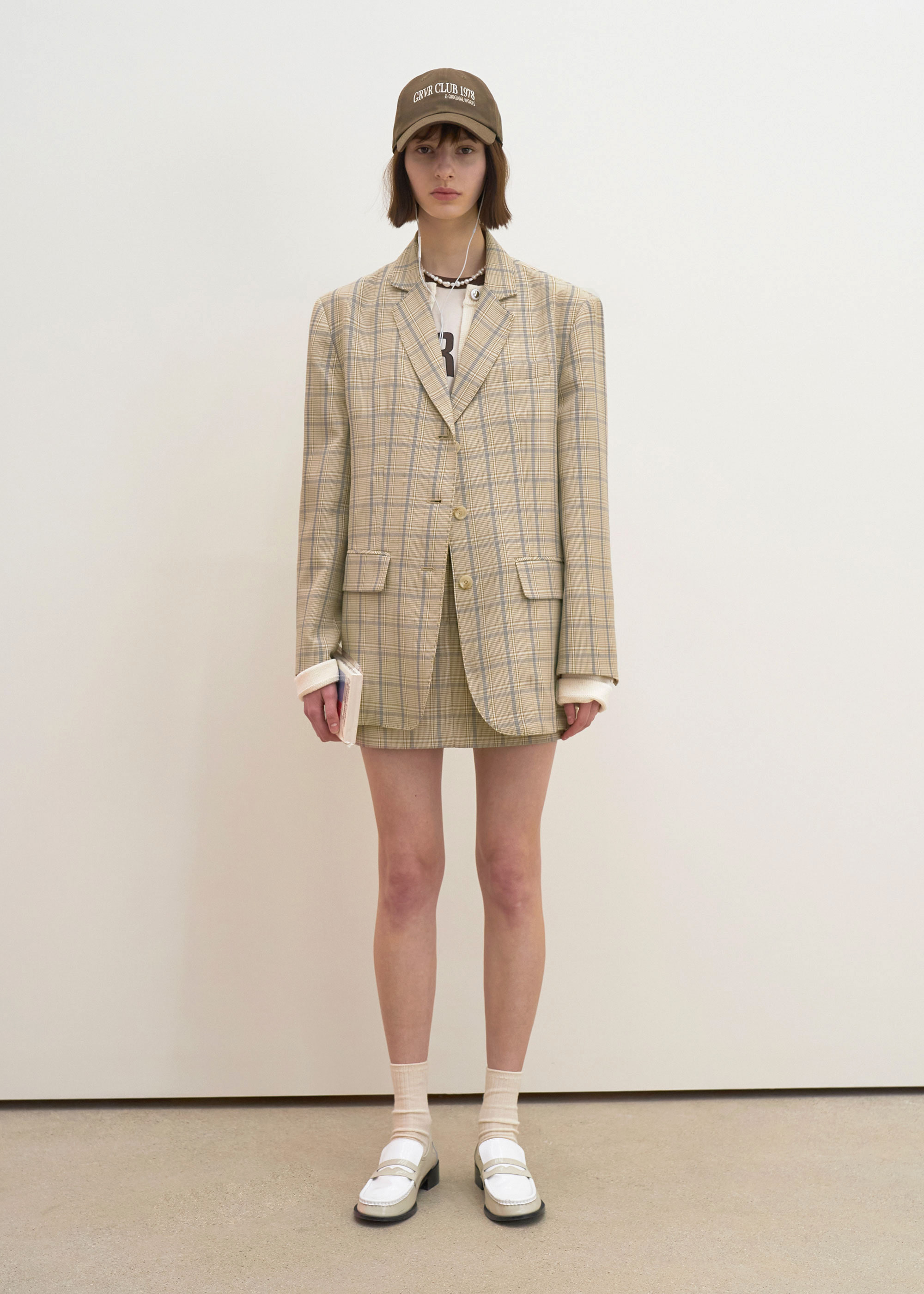 21S/S BELLA JACKET [BEIGE CHECK]