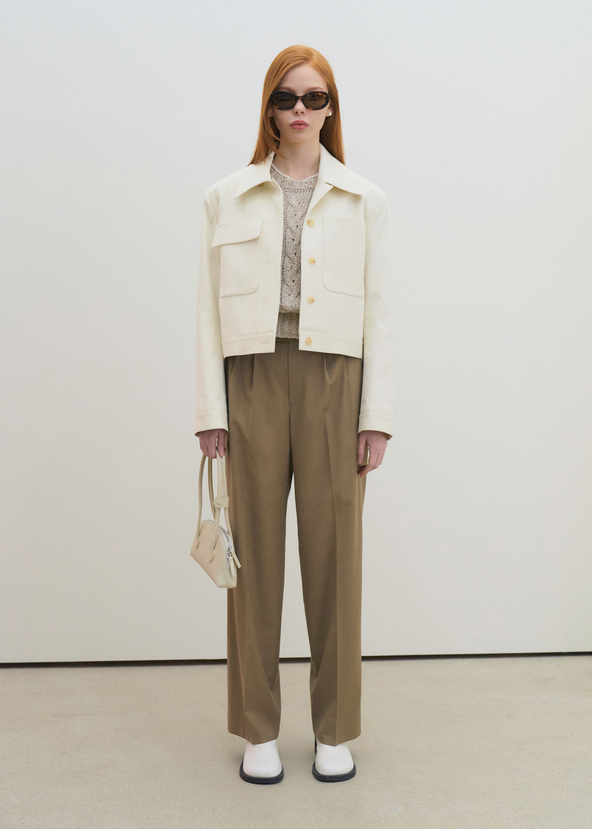 21S/S ELLA CROP JACKET [CREAM]